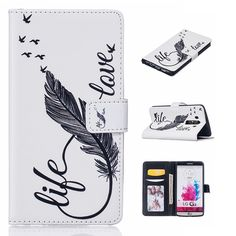 Karribeca Flip PU leather cover For LG G3 case flower fruit wallet cases for  LG G3 hoesje funda coque kryt etui pouzdra tok  #Affiliate