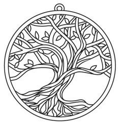 Free Printable Coloring Pages Free Adult Coloring Pages, Free Printable Coloring Pages, Colouring Pages, Coloring Books, Tree Coloring Page, Free Printable Stencils, Mandala Printable, Mandala Coloring Pages, Coloring Sheets