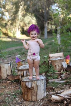 This Halloween, Emily is going as a living Troll doll.  Yikes.
