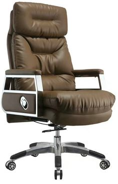 High back quality manager ergonomic computer leather swivel office chair with heavy duty base - China Foshan Staff Office Chair & Computer Seating Factory