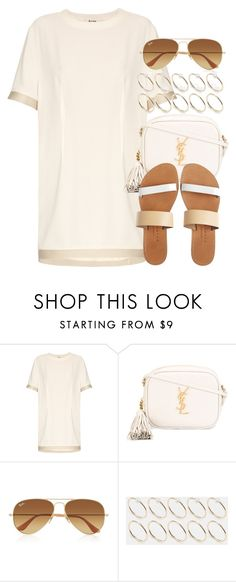 """""""Style #11013"""" by vany-alvarado ❤ liked on Polyvore featuring Acne Studios, Yves Saint Laurent, Ray-Ban, ASOS and Isapera"""