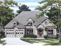 New American House Plan with 1575 Square Feet and 3 Bedrooms from Dream Home Source | House Plan Code DHSW05043