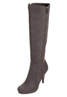 Platform boots - grey