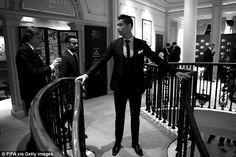 Ronaldo pictured behind the scenes at the London Palladium ahead of the awards ceremony