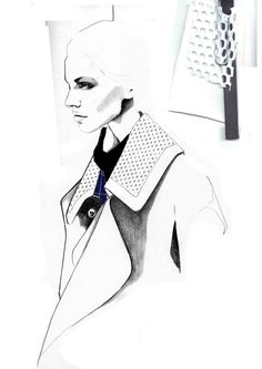Fashion Sketchbook - fashion illustration; fashion design drawings; fashion portfolio layout // Andrew Voss