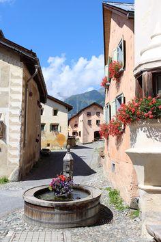 Guarda, one of Switzerlands gems! Swiss Travel, Reisen In Europa, World Pictures, Alps, Wonderful Places, Switzerland, Around The Worlds, In This Moment, Mansions