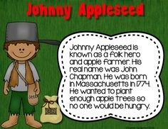 Apples Life Cycle and Johnny Appleseed PowerPoint and Activities; $