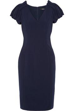 BADGLEY MISCHKA Pleated crepe dress. #badgleymischka #cloth #dress