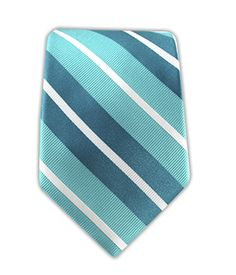 Aisle Stripe - Turquoise/Teal (Skinny) | Ties, Bow Ties, and Pocket Squares | The Tie Bar