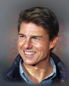 Tom Cruise by ~SoulOfDavid on deviantART {digital art}