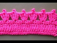 How to Crochet the Edge/Border Stitch Pattern #4 by ThePatterfamily - YouTube