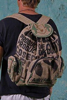 Unique Fair Trade Coffee Bag Backpack