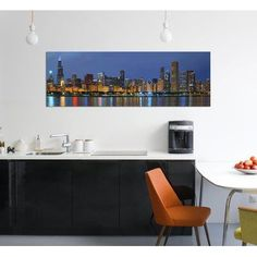 """East Urban Home 'Chicago Skyline' Photographic Print on Canvas Size: 12"""" H x 36"""" W x 0.75"""" D"""