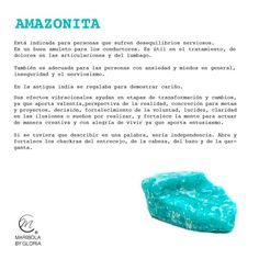 Aprendemos sobre la amazonita.  Copyright: maribolabygloria.com
