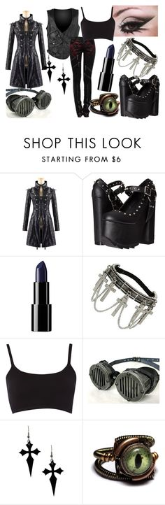 """""""Punk Rave General"""" by indigochild1313 ❤ liked on Polyvore featuring Demonia, Miss Selfridge, Punk, steampunk, rave and power"""