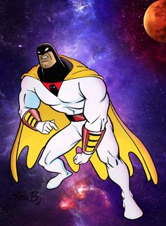 Space Ghost by ralvarias Hanna Barbera, Vintage Cartoon, Cartoon Tv, Jonny Quest, Captain Caveman, Josie And The Pussycats, Space Ghost, The Jetsons, Mundo Comic