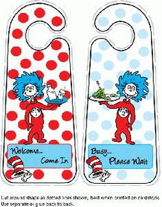 Free Printable Dr Seuss, Door Hangers Alphabet Bingo, Alphabet Worksheets, Eastern Star, Twin Babies, Art Activities, Door Hangers, Free Printables, Party Themes, Card Stock