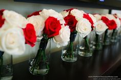 Red and white together is a lovely way to do the red roses without paying as much (if they cost more in your area)