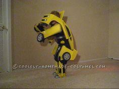 Awesome Homemade Transforming Bumblebee Transformer Halloween Costume...