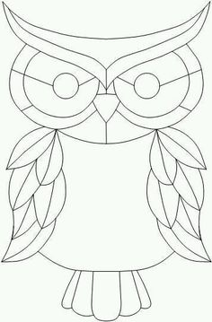 stained glass window quilt patterns for beginners - - Yahoo Image Search Results Owl Patterns, Quilling Patterns, Applique Patterns, Free Mosaic Patterns, Owl Applique, Quilt Patterns, Free Pattern, Stained Glass Birds, Stained Glass Projects
