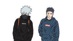 Supreme X obito X kakashi urban naruto draw illustration ilustracion apparel clothing