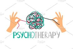 Psychotherapy concept illustration with hands untangling messy snarl knot, vector illustration Word Of Grace, Calligraphy Drawing, Logo Design Trends, Personal Logo, Social Media Logos, Logo Inspiration, Graphic Illustration, Art Quotes, Creative