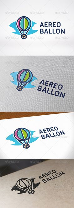 Air Balloon Logo Template — Vector EPS #cildren #network • Available here → https://graphicriver.net/item/air-balloon-logo-template/7052836?ref=pxcr