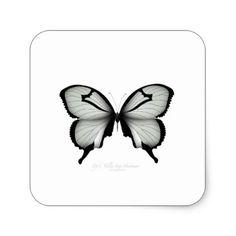 Valley Sage Huntsman Butterfly Square Sticker - nursery ideas gift present idea diy individual customized