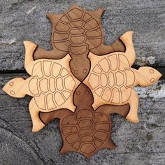 How (and Why) to Introduce Tesselations to Preschoolers – Math At Home Tessellation Patterns, Turtle Homes, Tesselations, Wooden Pattern, Tortoise Turtle, Tortoises, Wood Art, Wood Crafts, Carving