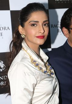 Red-lipped beauty Sonam Kapoor at a store launch in Delhi. Click Here >> Voompla.com