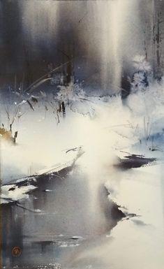 Ilya ibryaev Watercolor Portraits, Watercolor Landscape Paintings, Abstract Watercolor, Abstract Landscape, Watercolour Painting, Abstract Art, Watercolor Techniques, Art Techniques, Watercolours