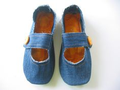 Re-purposed House Slippers — DIY How-to from Jeans