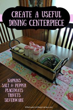 Create A Useful Dining Centerpiece Everyday CenterpieceDining CenterpieceSimple CenterpiecesCenterpiece IdeasKitchen Table