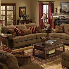 The Family Room set we got for the house. Can't wait until it comes in! Jackson Furniture Belmont Sofa and Loveseat Set