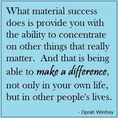You've got to love Oprah.