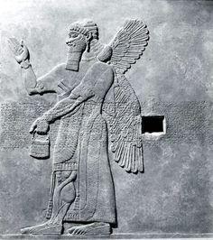 Relief panel, Neo-Assyrian, 883–859 B.C. Mesopotamia, Nimrud (ancient Kalhu). The Metropolitan Museum of Art