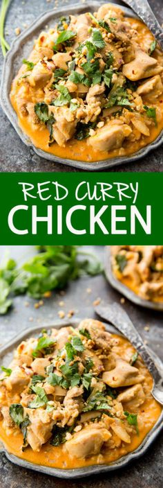 Creamy Red Curry Chicken is a family favorite!