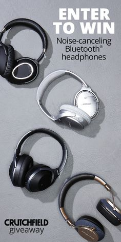 Win 1 of 12 Bluetooth Noise-Cancelling headphones from Crutchfield Me Time, Enter To Win, Your Turn, Audiophile, Easy Guitar, Stuff To Buy, Giveaways, Guitars