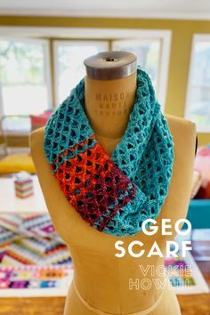 Geo Scarf by Vickie Howell