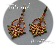 Chandelier  beadwoven earrings tutorial / por BeadedTreasury