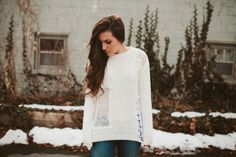 Update a sweater // Sincerely, Kinsey: Weekend Makeover Project