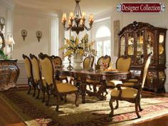If I ever came into a windfall, this is the dining room set I want!  from Magnolia Hall-Made in the USA <3