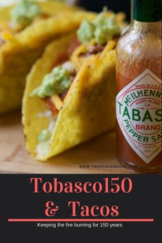 Great Spice for any occasion Tobasco 150 years Tacos, Spices, Lovers, Stuffed Peppers, Ethnic Recipes, Food, Spice, Stuffed Pepper, Essen