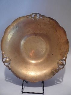 Vintage Large Brass Console Bowl Estate Hallmark