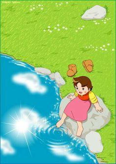 Heidi Heidi Cartoon, Cartoon Art, Cartoon Characters, Ghibli, 80 Cartoons, Disney Rapunzel, Saturday Morning Cartoons, Sweet Stories, 90s Childhood