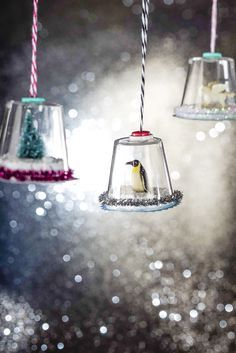 Mini Snow Globes DIY Christmas Ornament Craft for Kids