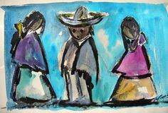 Artist Ted DeGrazia is best known as an oil painter, but his mastery of the medium of watercolor is evident throughout his long career. DeGrazia Gallery in the Sun open daily from 10-4; free admission. #NationalHistoricDistrict #DeGrazia #Artist #Ettore #Ted #GalleryInTheSun #ArtGallery #Gallery #Adobe #Architecture #Tucson #Arizona #AZ #Catalinas #Desert #Watercolors #Colors #Paintings #teddegrazia #galleryinthesun #degrazia