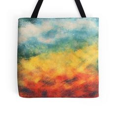 """""""Multi-colored art"""" Tote Bags by floraaplus 