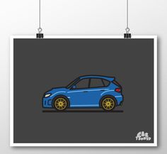 12 x 18 Poster ---------------------------------------- One of the most popular vehicles around, the Subaru WRX/STi has been CarTooned! Custom colors available upon request.  ---------------------------------------- PRINT Item for sale is a print only, no frame included. Please note color will slightly vary from screen to print.  ---------------------------------------- PRODUCTION AND SHIPPING Please note posters are made to order and ship within 3-7 business days.