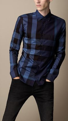 Burberry Button-Down Check Shirt